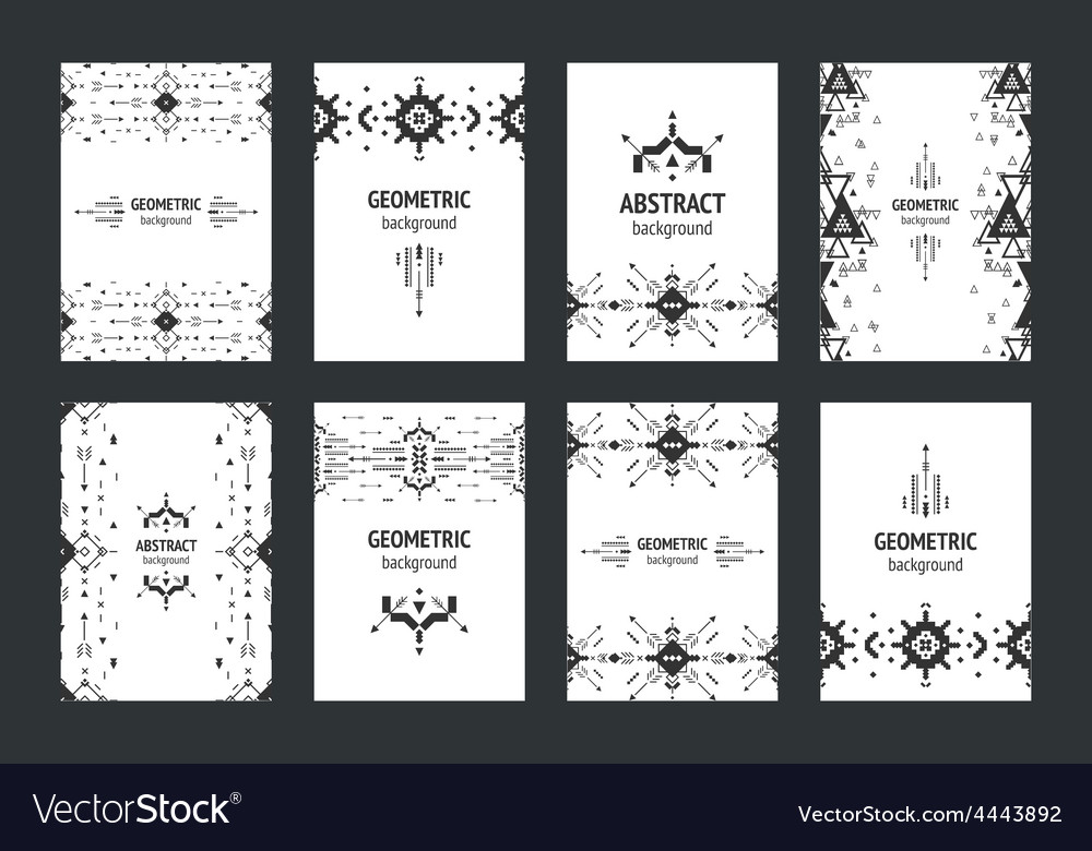 Set of geometric flyers hipster background with vector | Price: 1 Credit (USD $1)