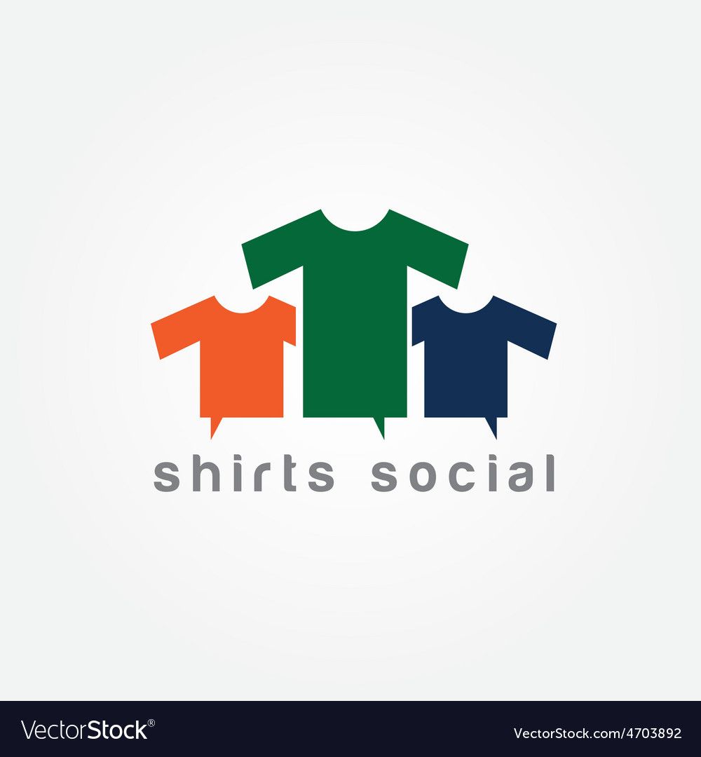 Shirts social concept design template vector | Price: 1 Credit (USD $1)