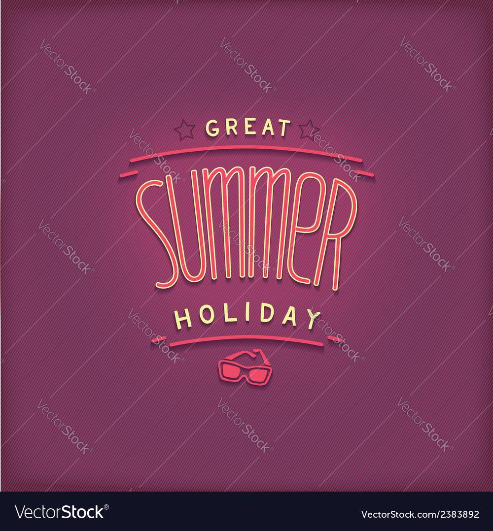 Summer retro lettering design vector | Price: 1 Credit (USD $1)