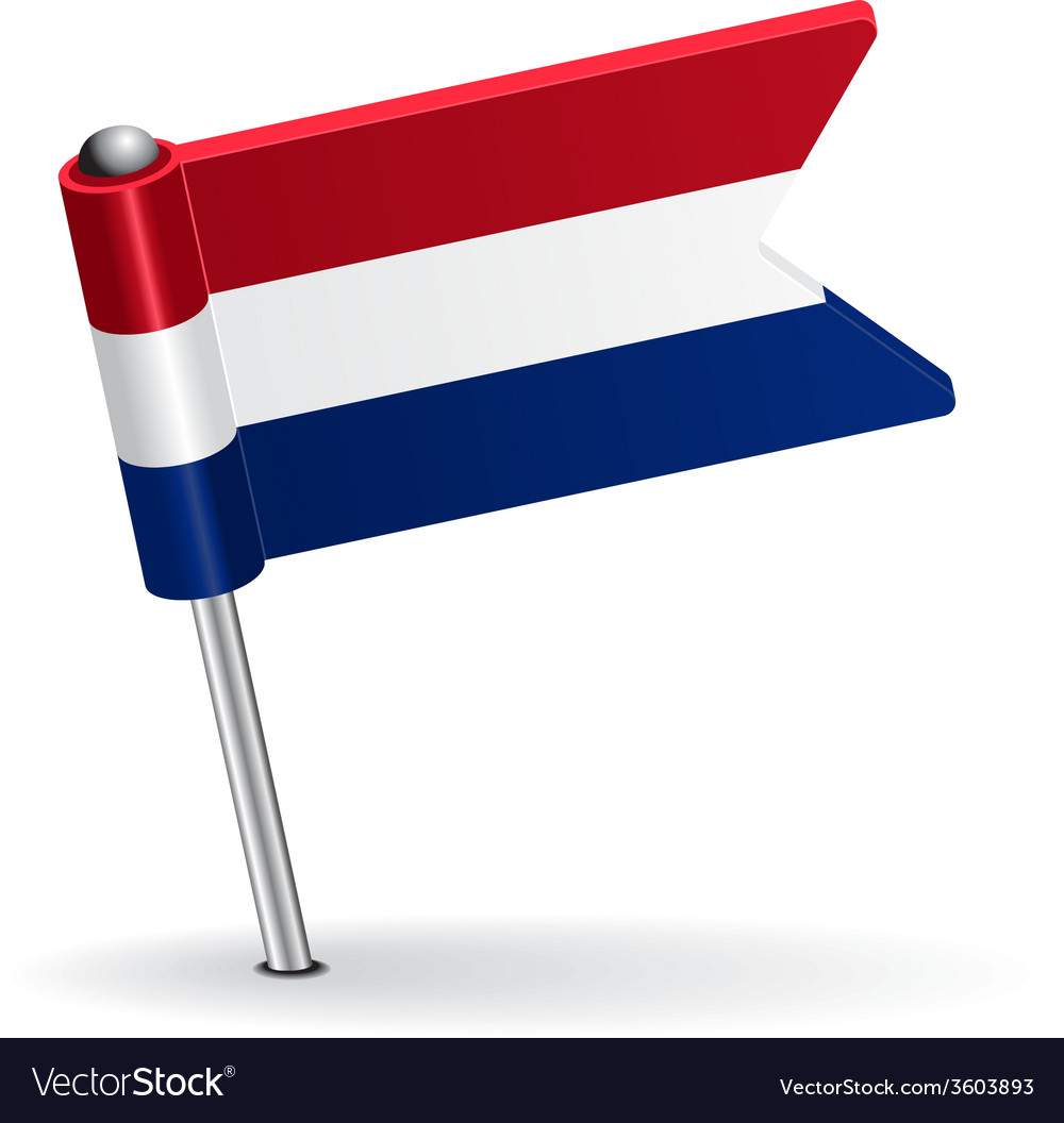 Dutch pin icon flag vector | Price: 1 Credit (USD $1)