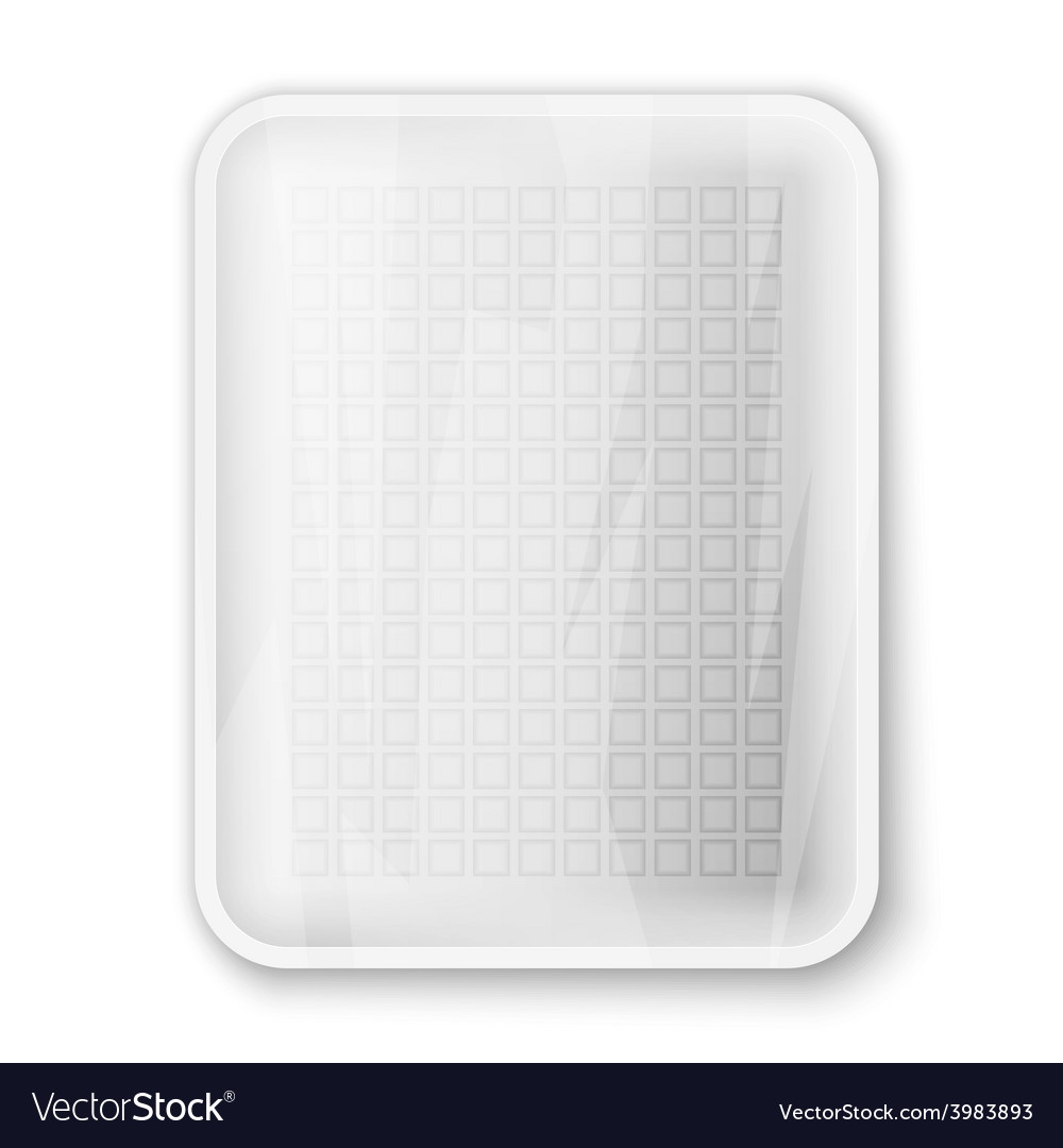 Empty white food tray vector | Price: 1 Credit (USD $1)