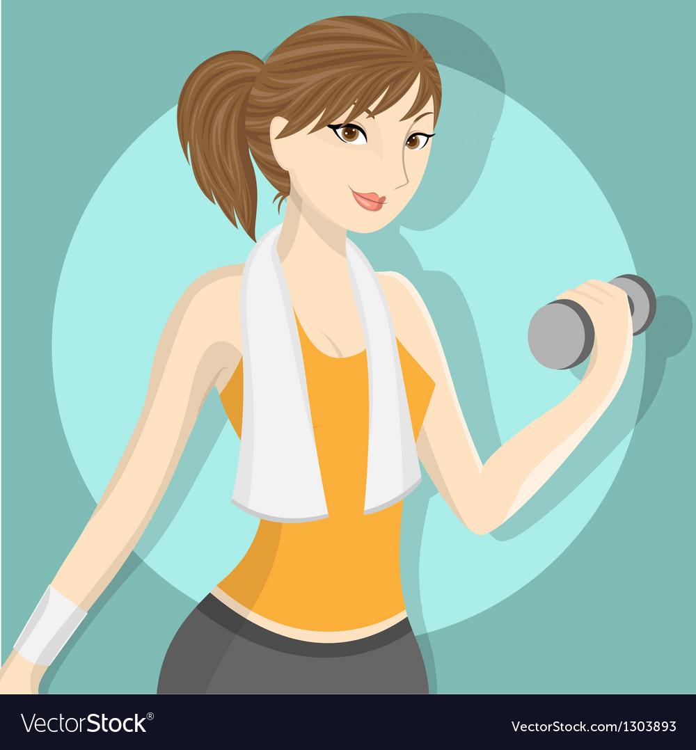 Fitness girl 2 vector | Price: 1 Credit (USD $1)
