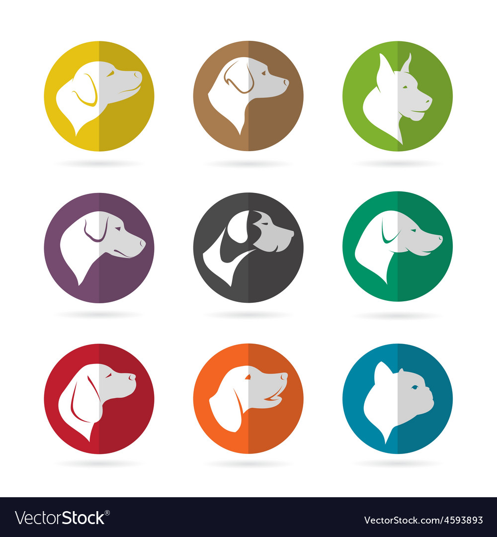 Group of dog in the circle vector | Price: 1 Credit (USD $1)