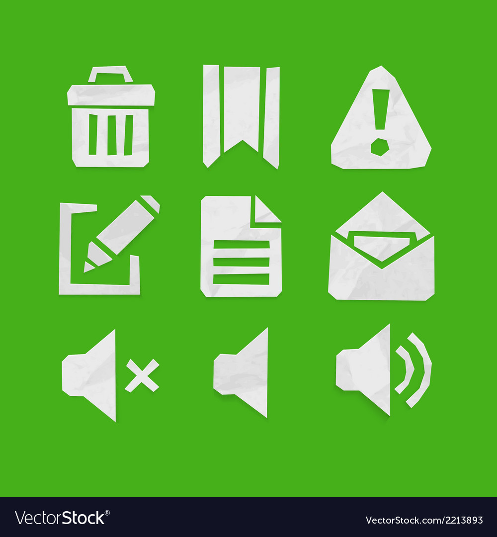 Paper cut icons for web and mobile applications se vector | Price: 1 Credit (USD $1)