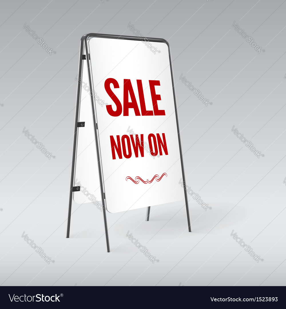 Sandwich board isolated vector | Price: 1 Credit (USD $1)