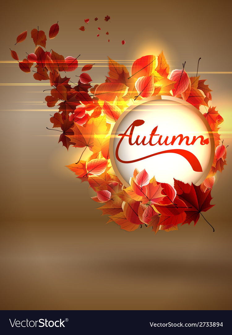 Autumn background with lights plus eps10 vector | Price: 1 Credit (USD $1)