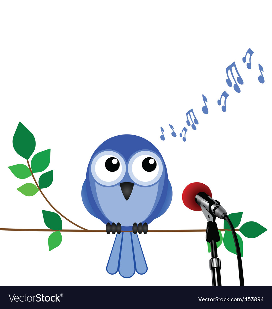 Bird song vector | Price: 1 Credit (USD $1)