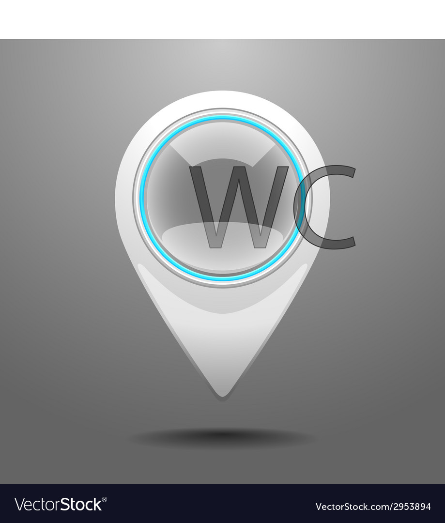 Glossy toilet icon vector | Price: 1 Credit (USD $1)