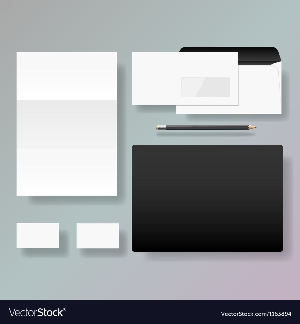 Set of corporate identity style template design vector | Price: 3 Credit (USD $3)