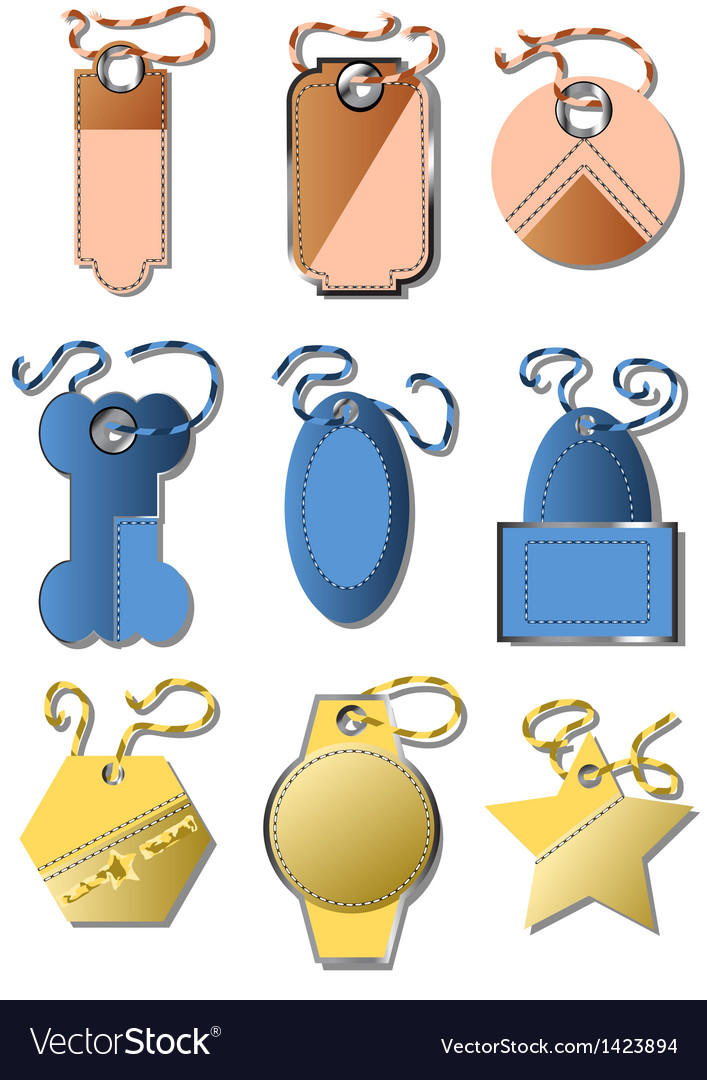 Set of labels vector   Price: 1 Credit (USD $1)