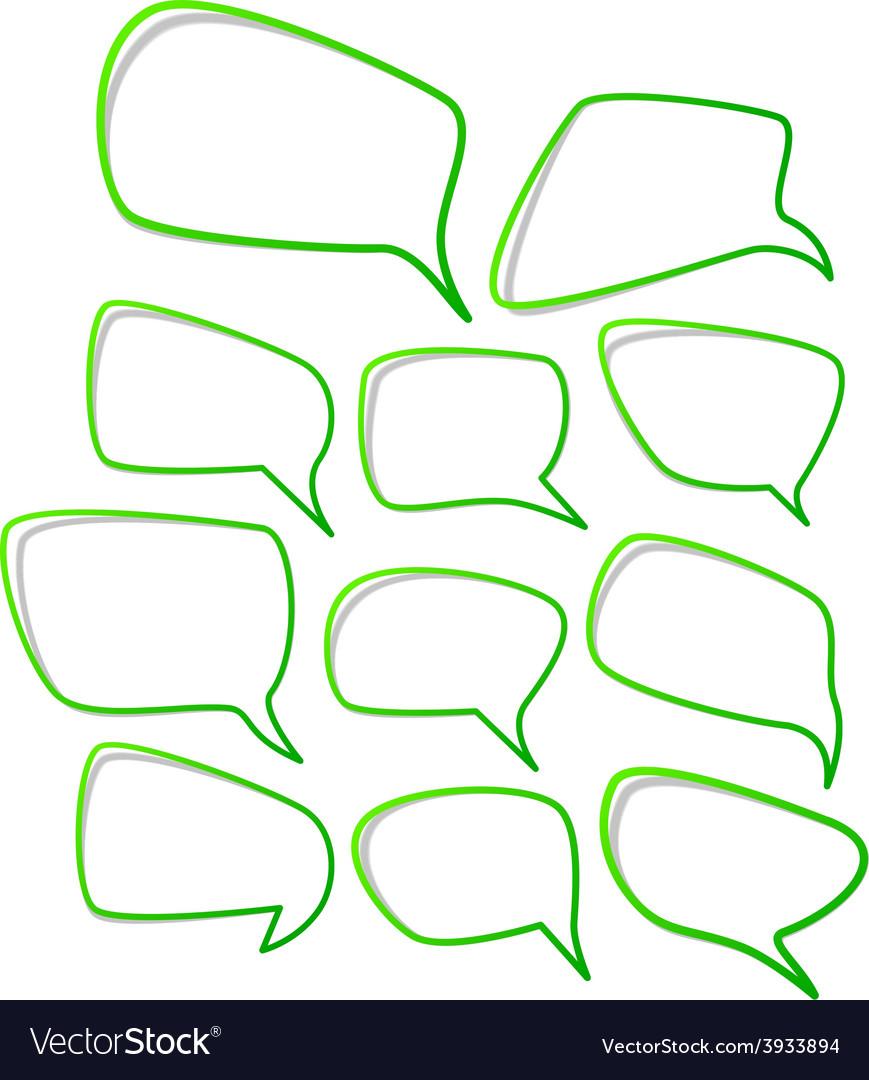 Speech notification paper frames vector | Price: 1 Credit (USD $1)