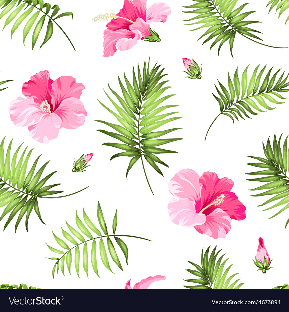 Tropical seamless pattern vector | Price: 1 Credit (USD $1)