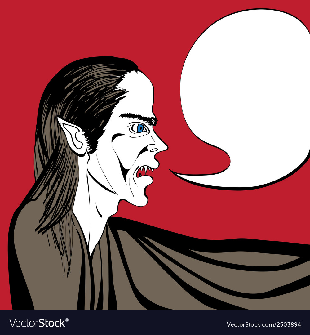 Vampire talk vector | Price: 1 Credit (USD $1)