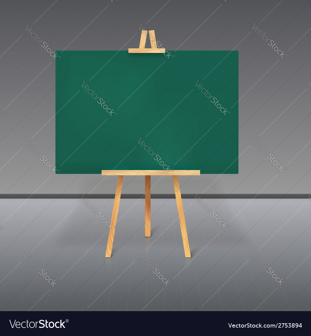 Wooden tripod with a green chalkboard vector | Price: 1 Credit (USD $1)