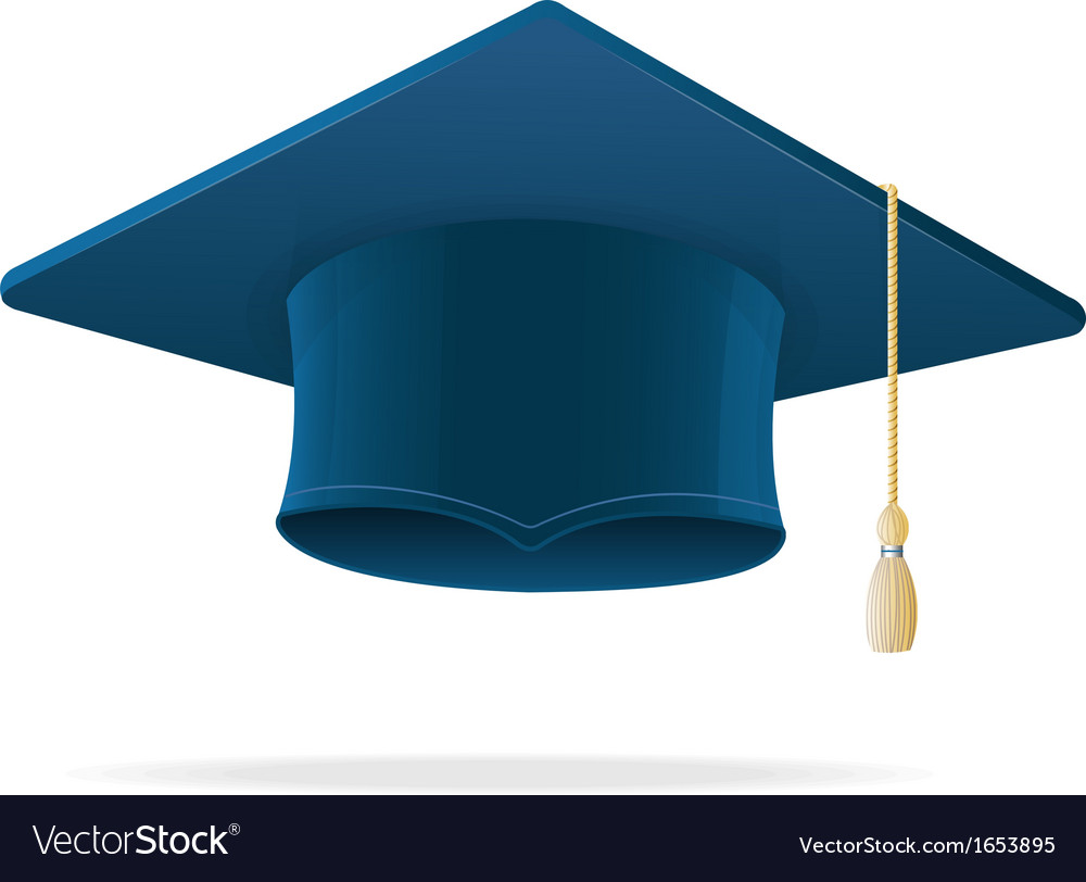 Education cup on white graduation cap vector | Price: 1 Credit (USD $1)