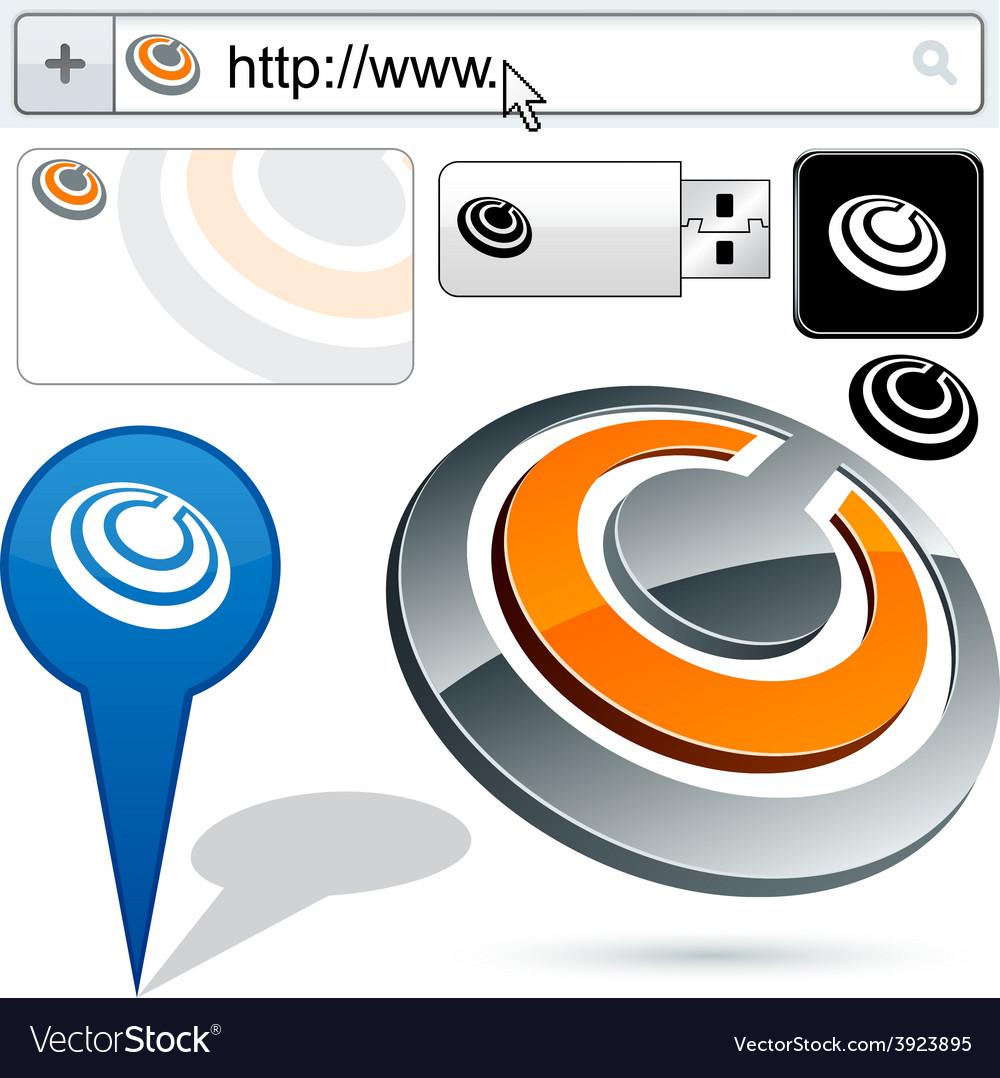 Original ring design element vector | Price: 1 Credit (USD $1)