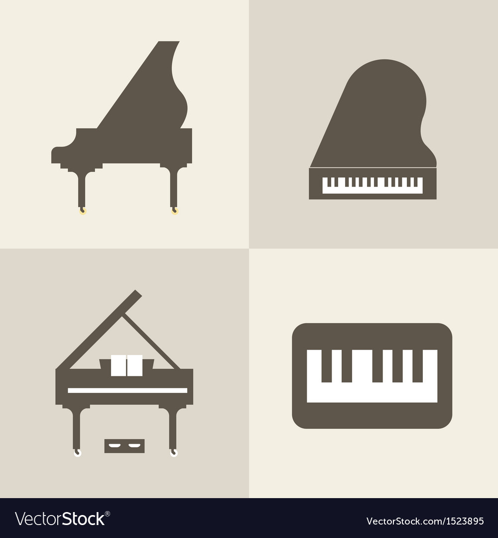 Piano icons vector | Price: 1 Credit (USD $1)