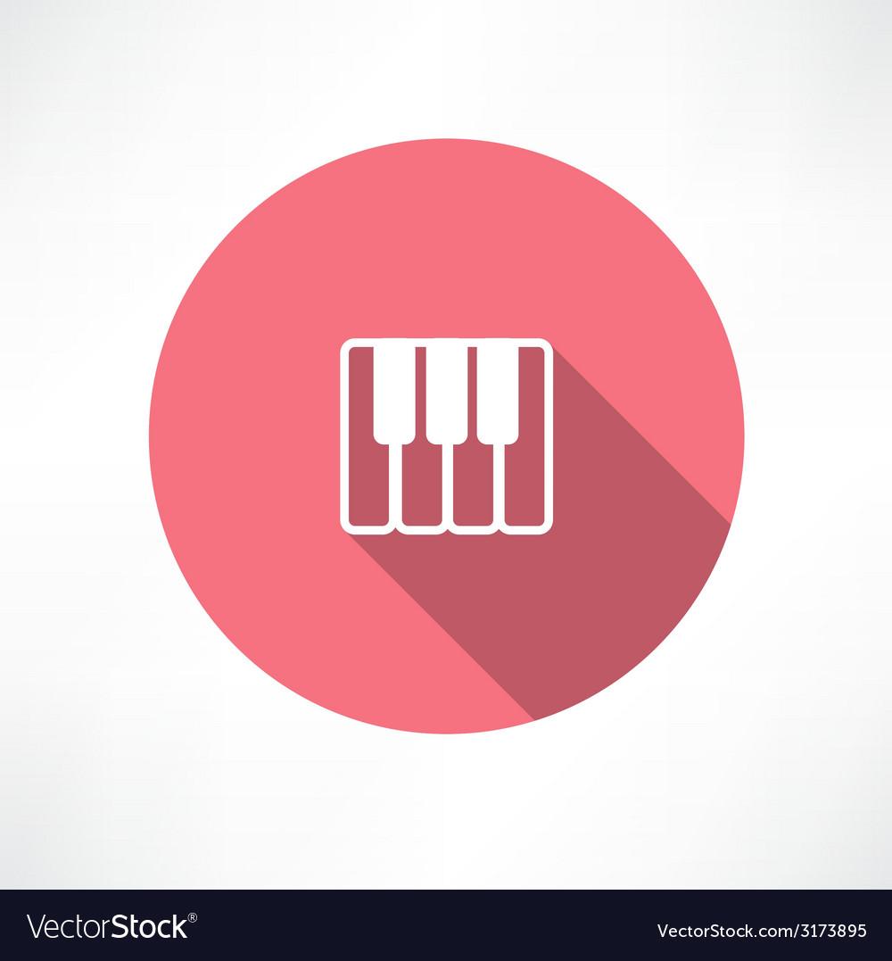 Piano keys icon vector | Price: 1 Credit (USD $1)