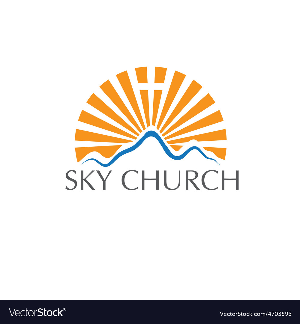 Sky church concept vector | Price: 1 Credit (USD $1)
