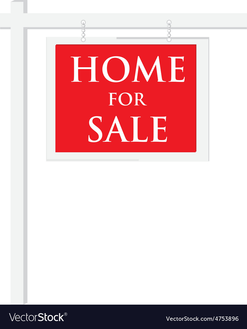 House for sale sign vector | Price: 1 Credit (USD $1)
