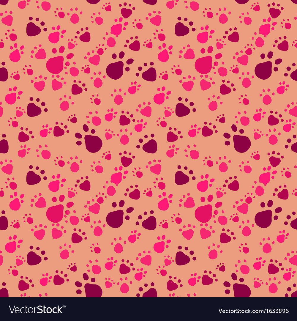 Pet paws imprints abstract seamless pattern vector | Price: 1 Credit (USD $1)
