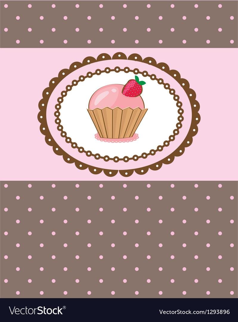Piece of cake cupcake vector | Price: 1 Credit (USD $1)