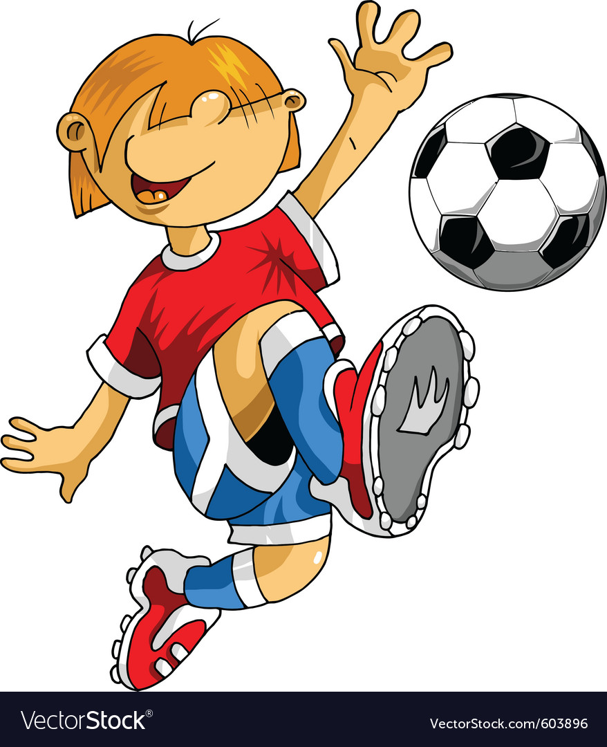 Soccer cartoon vector | Price: 1 Credit (USD $1)