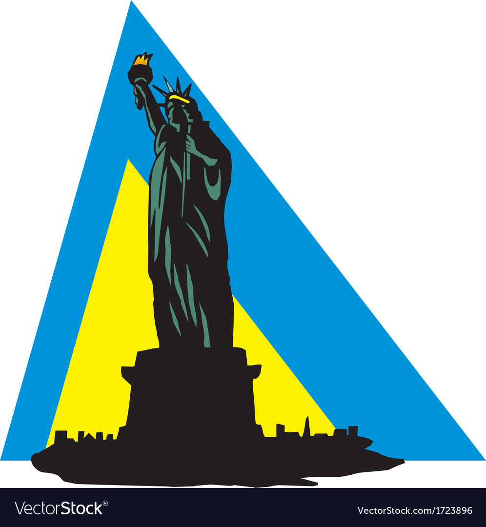 Statue of liberty in new york vector | Price: 1 Credit (USD $1)