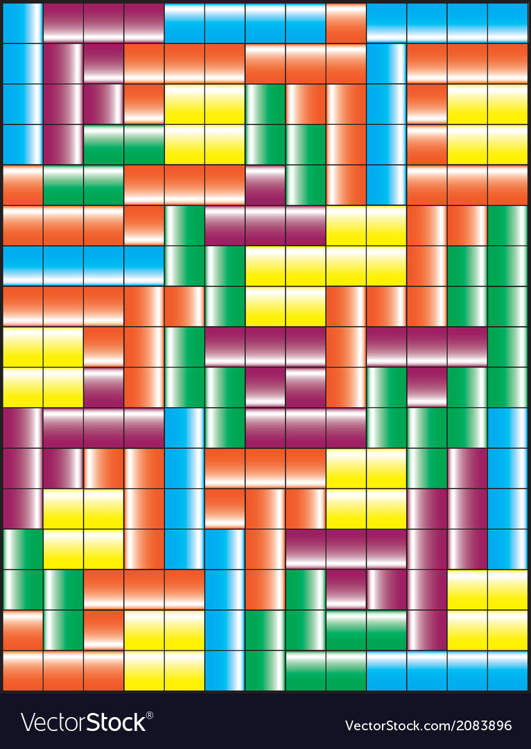 Tetris puzzle game vector | Price: 1 Credit (USD $1)