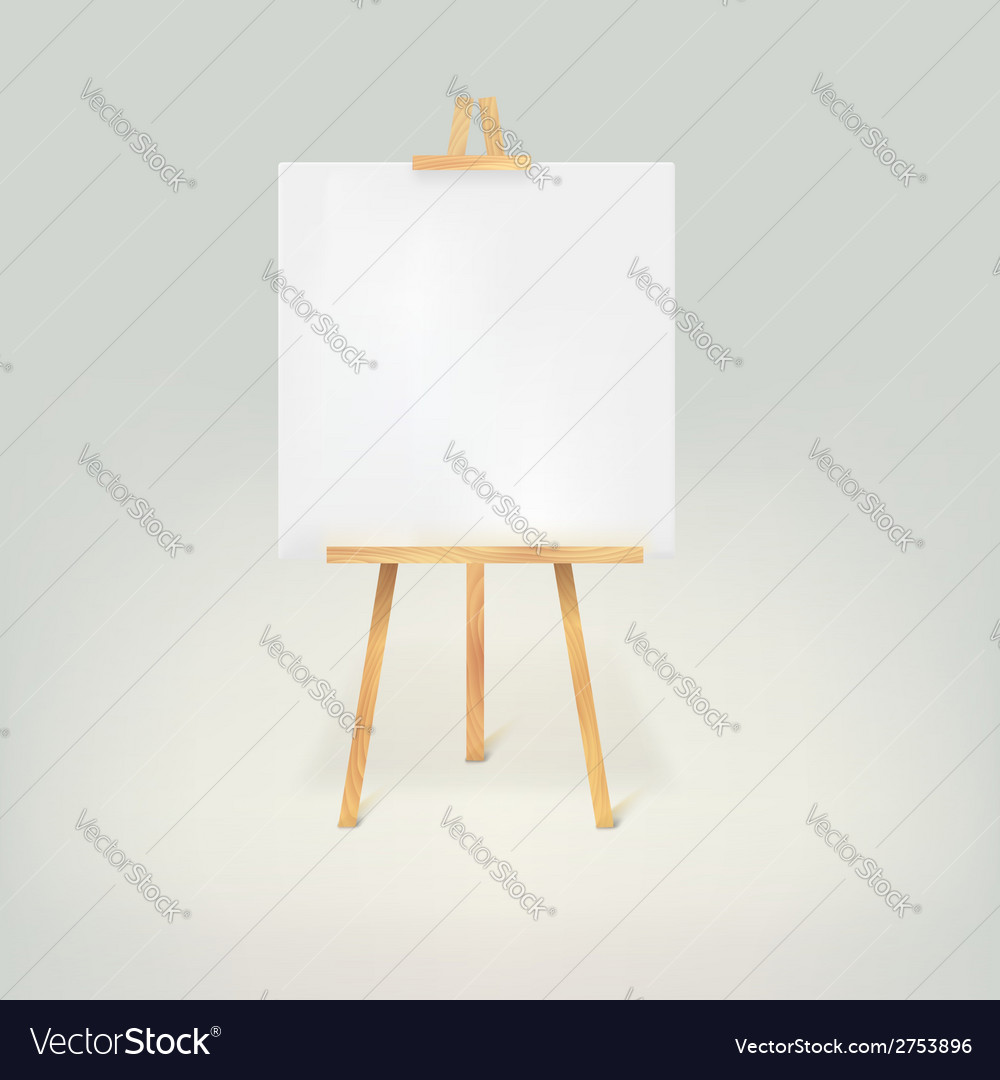 Wooden tripod with a white sheet of paper vector | Price: 1 Credit (USD $1)