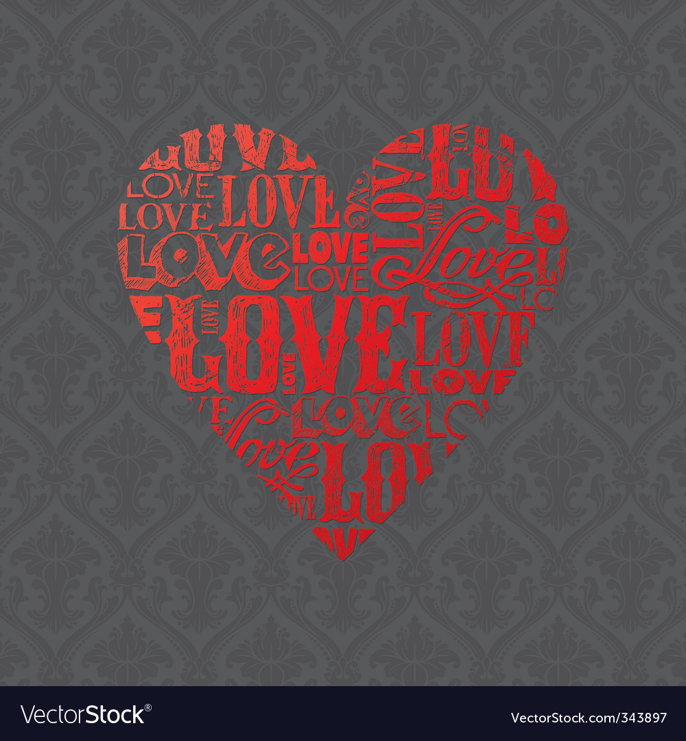 Abstract valentines heart vector | Price: 1 Credit (USD $1)