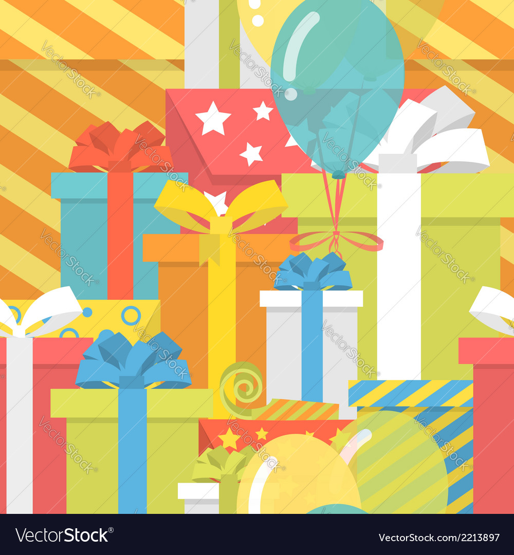 Birthday pattern with gifts vector | Price: 1 Credit (USD $1)