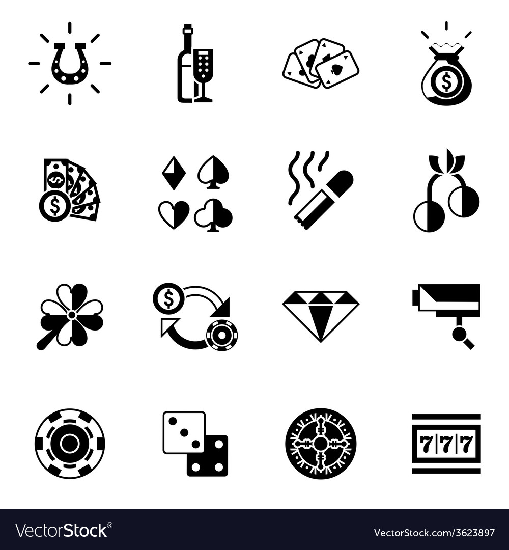 Casino icons black vector | Price: 1 Credit (USD $1)