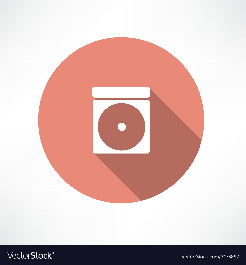 Cd-rom icon vector | Price: 1 Credit (USD $1)