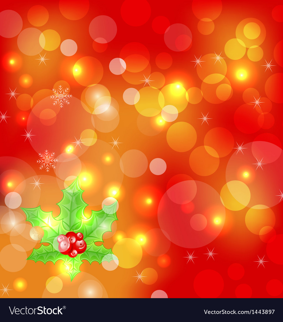 Christmas holiday wallpaper with decoration vector | Price: 1 Credit (USD $1)