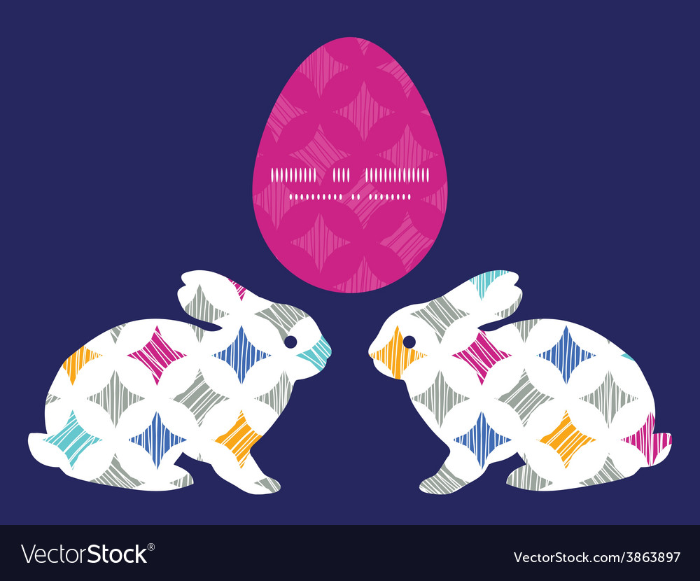 Colorful marble textured tiles bunny rabbit vector | Price: 1 Credit (USD $1)