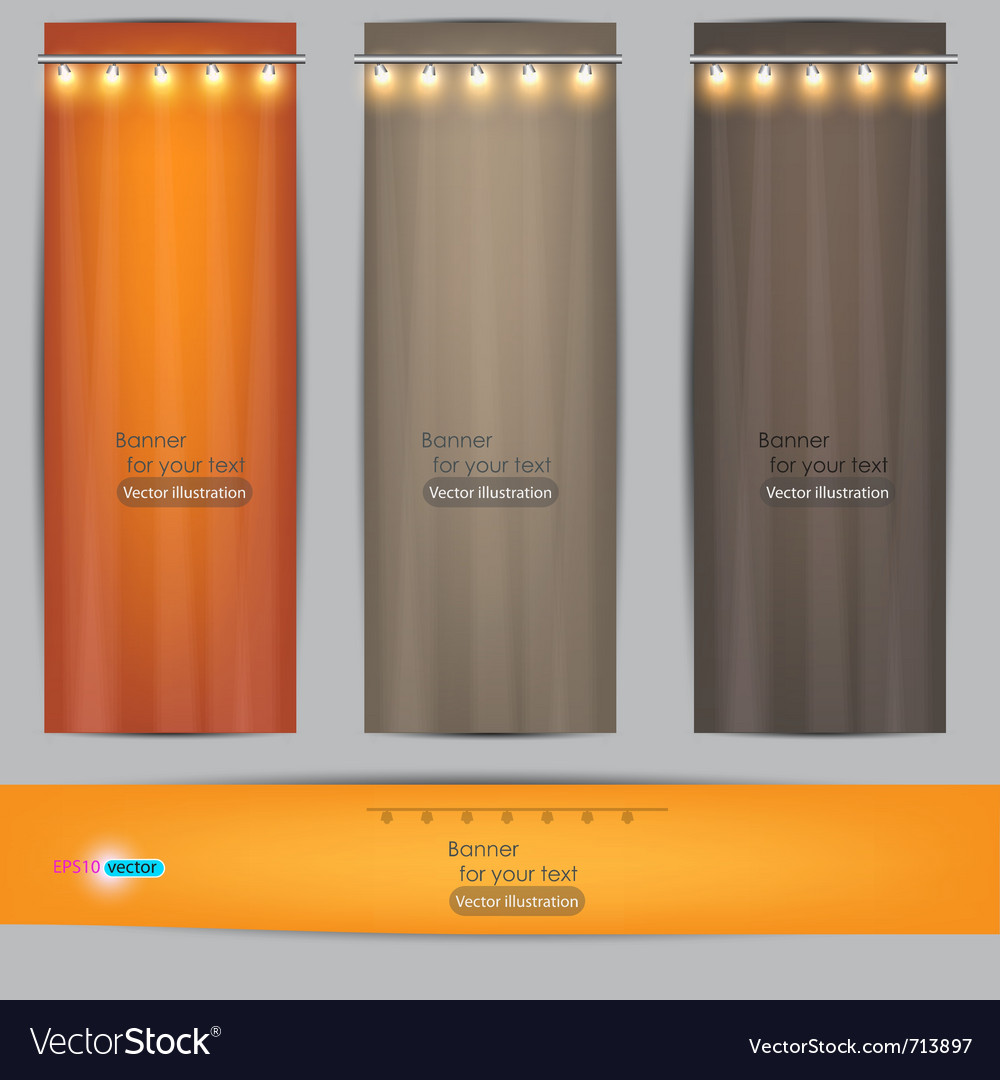 Empty banner for product advertising with lighting vector | Price: 1 Credit (USD $1)