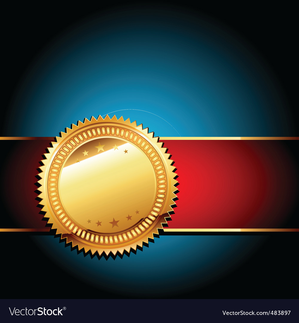 Golden label vector | Price: 1 Credit (USD $1)