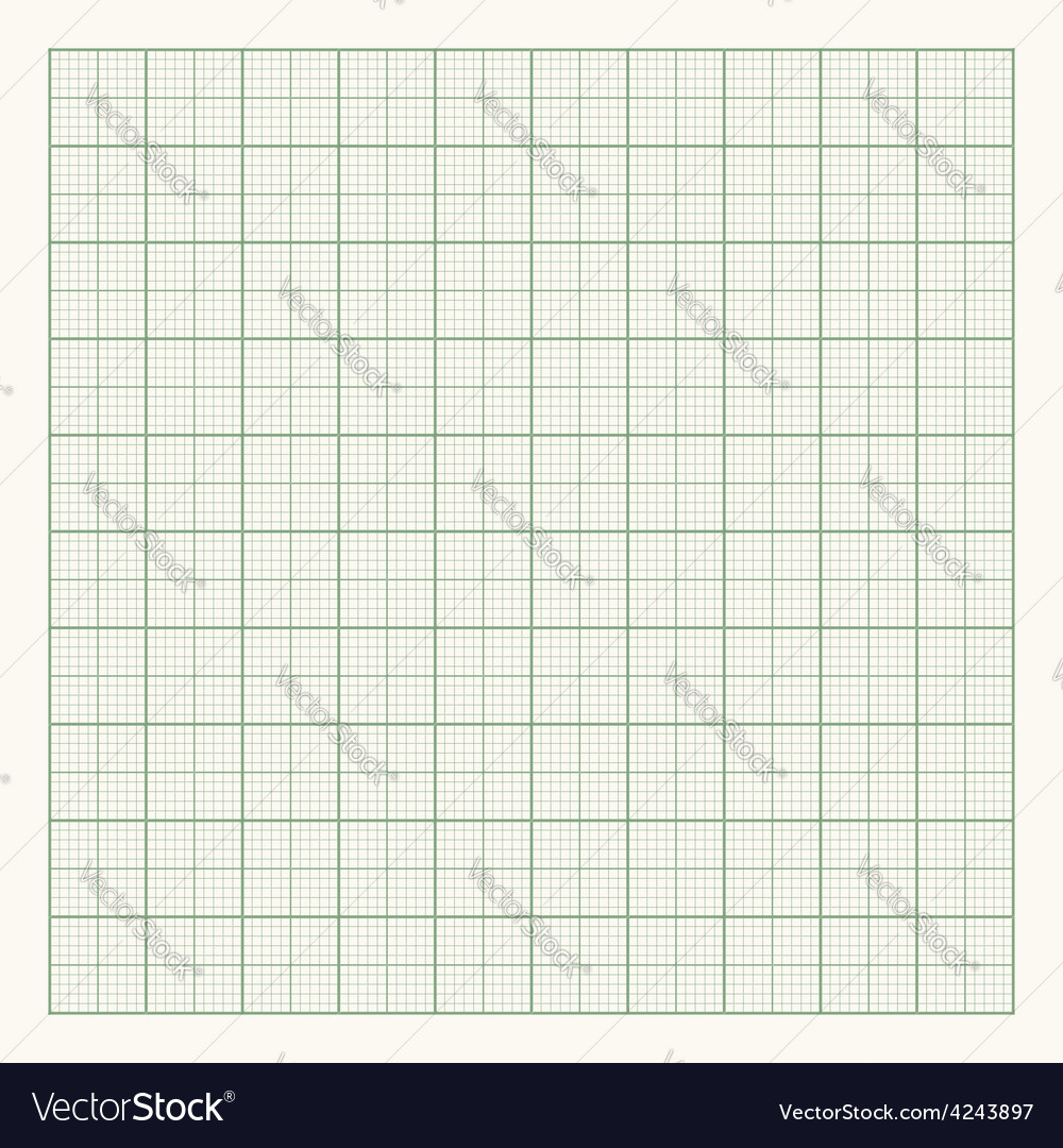 Green graph paper on light background vector | Price: 1 Credit (USD $1)