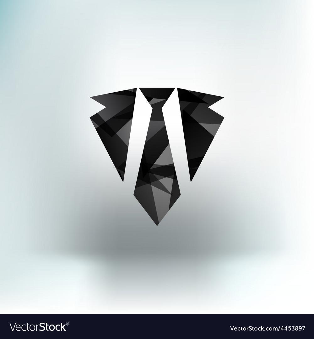 Icon flat necktie shaded tie style vector   Price: 1 Credit (USD $1)
