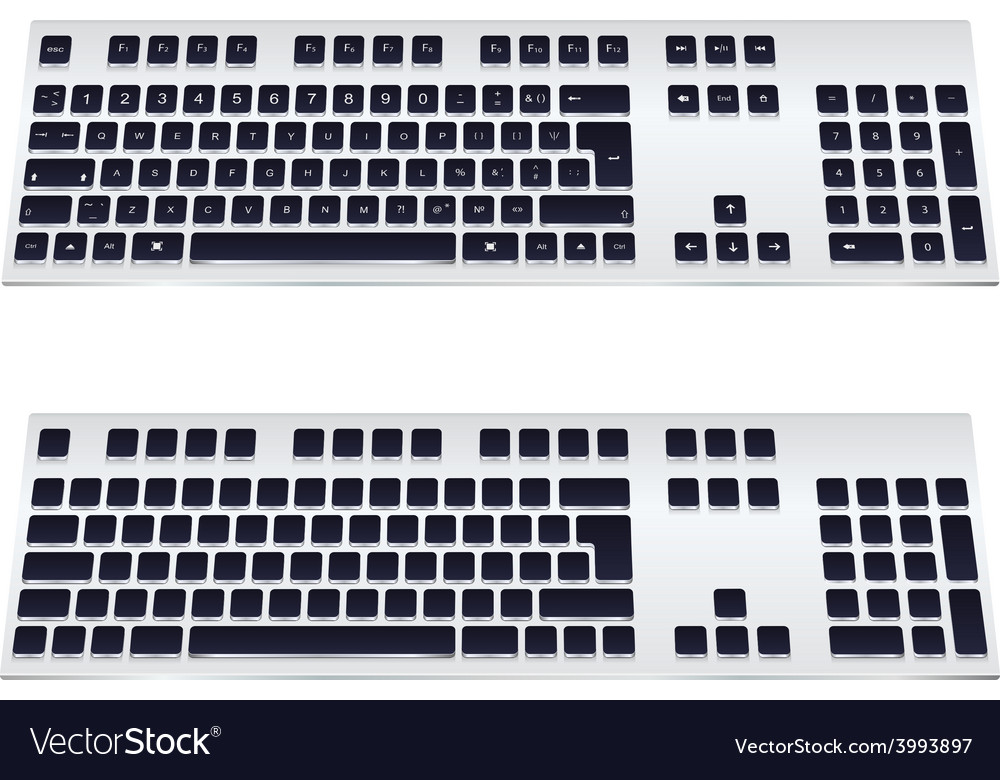 Modern keyboard vector | Price: 1 Credit (USD $1)