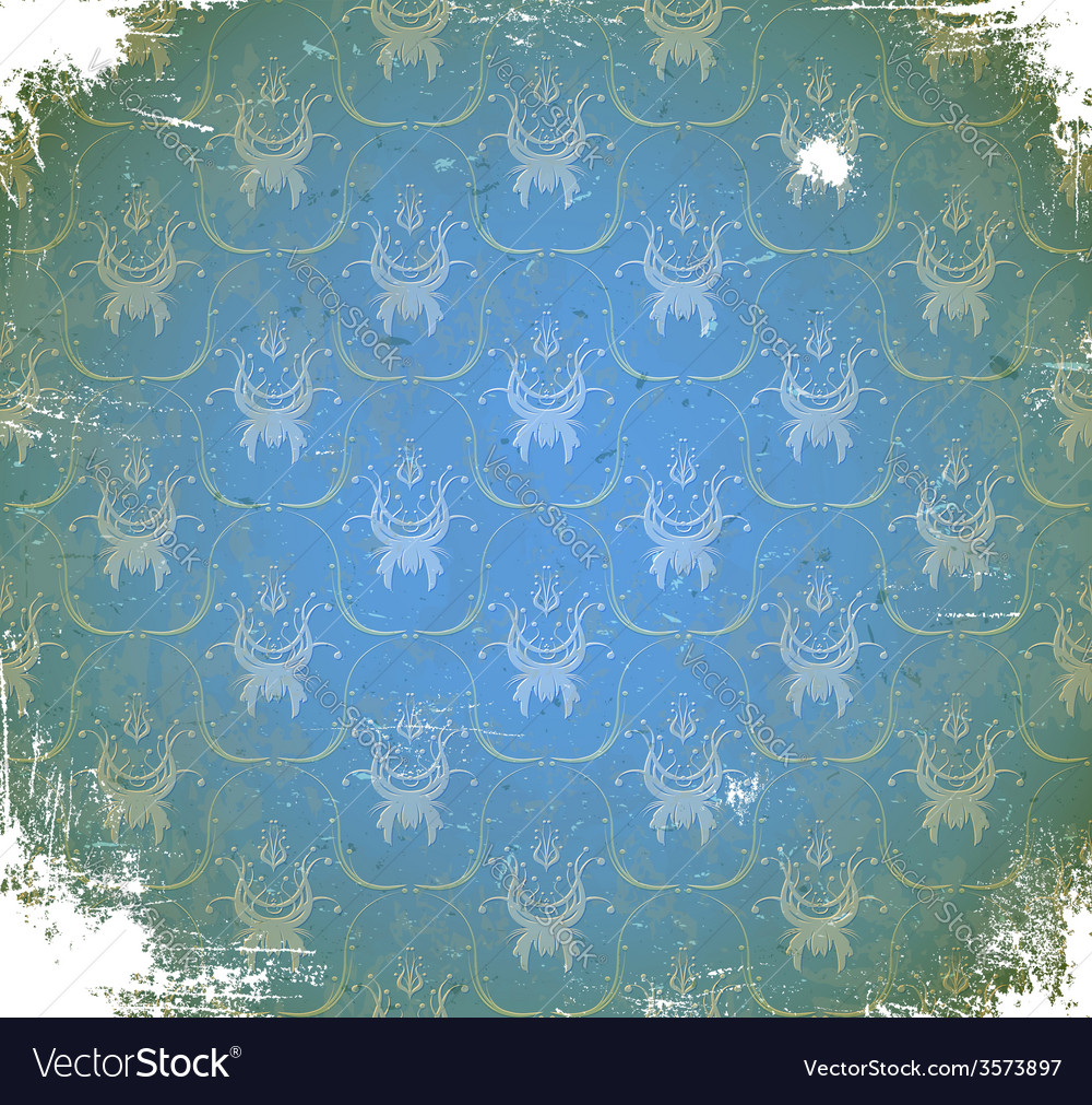 Scratched pattern with floral ornament vector | Price: 1 Credit (USD $1)