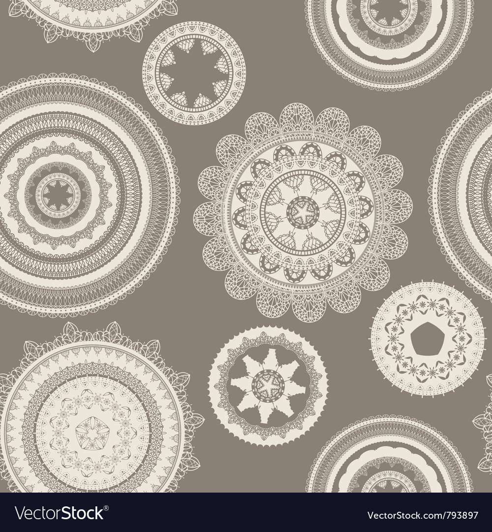 Seamless pattern lacy napkins vector | Price: 1 Credit (USD $1)