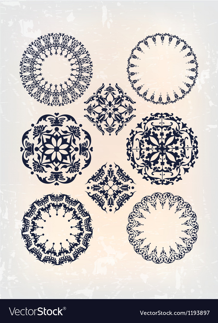 Set of antique arabesque vector | Price: 1 Credit (USD $1)