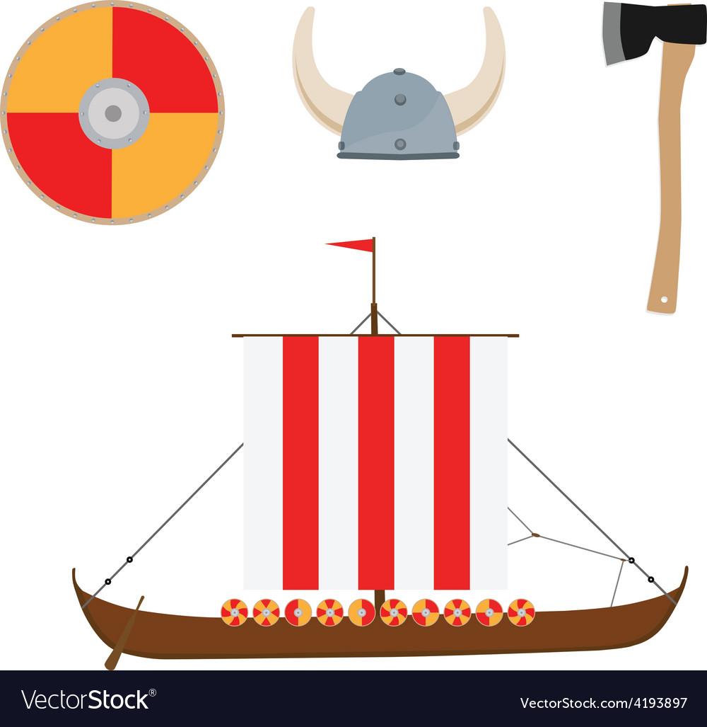 Viking set vector | Price: 1 Credit (USD $1)