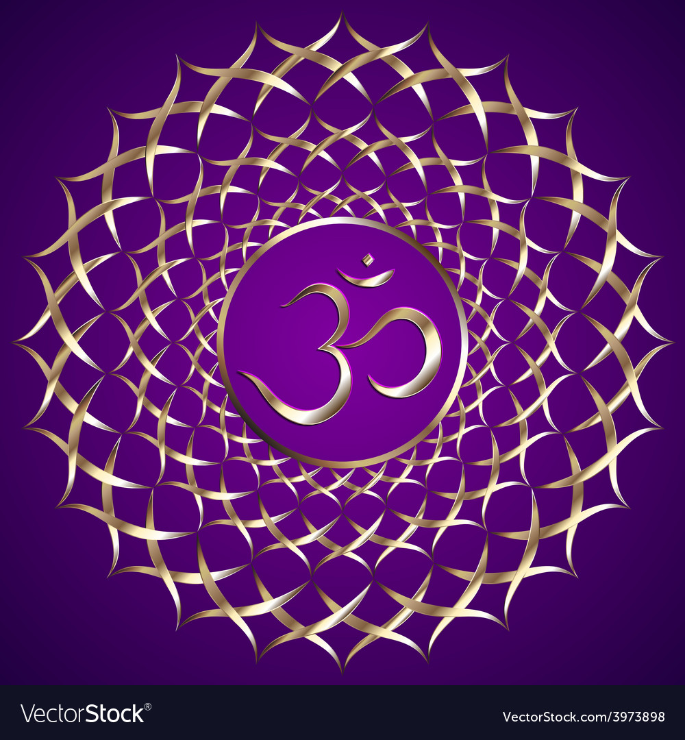 Abstract purple background with om mantra vector | Price: 1 Credit (USD $1)