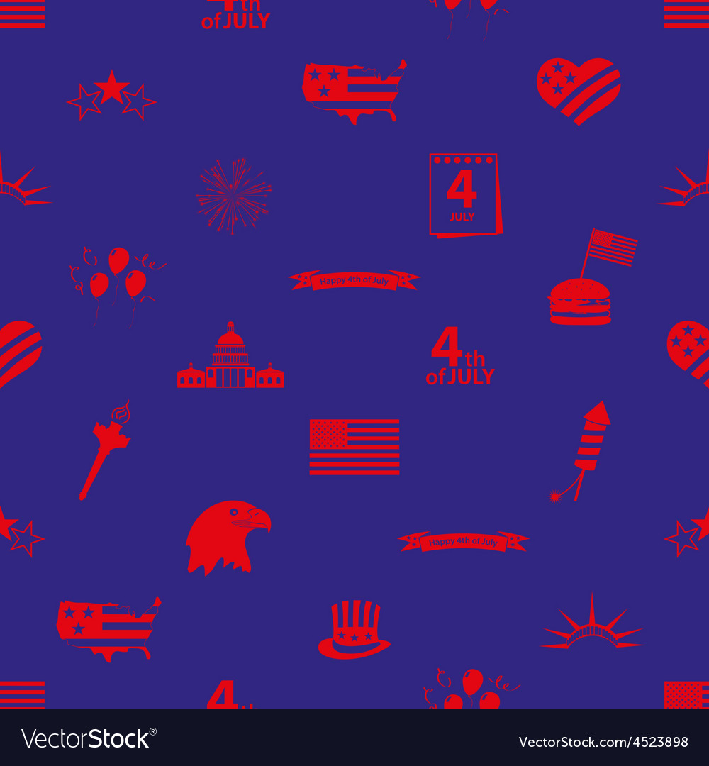 American independence day celebration icons vector | Price: 1 Credit (USD $1)