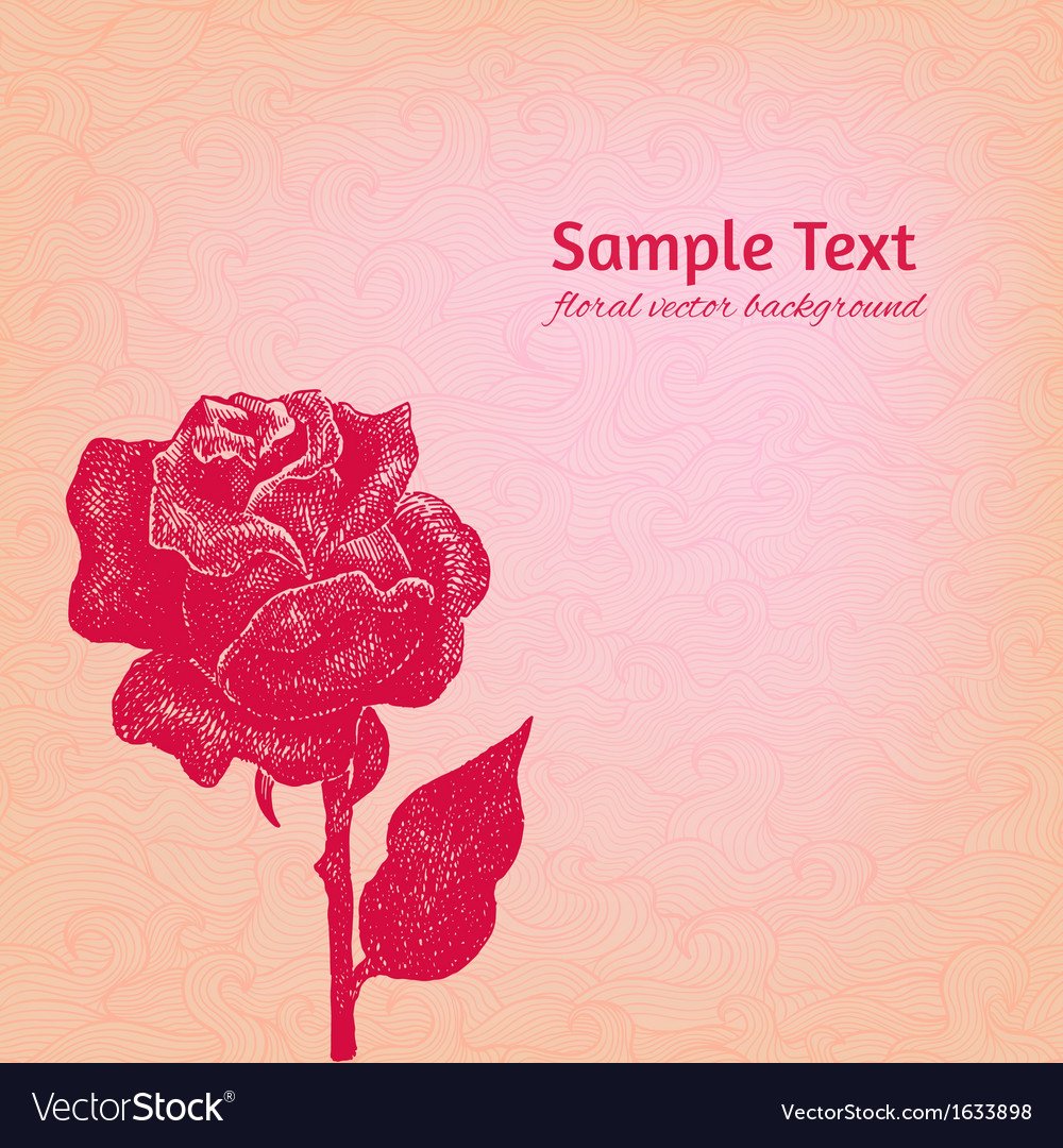 Artistic rose patterned background vector | Price: 1 Credit (USD $1)