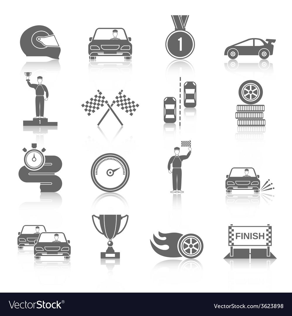 Auto sport icons set vector | Price: 1 Credit (USD $1)