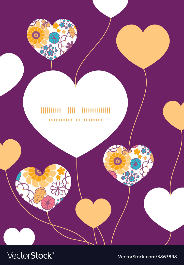 Colorful oriental flowers heart symbol vector | Price: 1 Credit (USD $1)